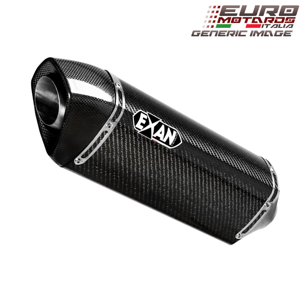 BMW F800 GS 2008-2016 Exan Exhaust Silencer OVAL X-BLACK Titanium/Carbon New