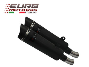 Honda Dominator 650 1993-1996 Endy Exhaust Slip-On Dual Silencers XR3 Black New