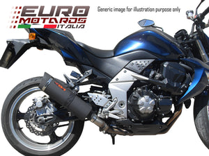 Honda VFR 800 Fi 2002-09 Endy Exhaust Slipon Dual Silencers XR3 Black Road Legal