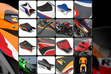 Load image into Gallery viewer, Yamaha R6 2017-2018 Luimoto Race Tec-Grip Suede Seat Covers Front and Rear New