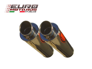 Ducati Monster 696 2008-2014 MassMoto Exhaust Slip-On Dual Silencers GP1 Inox