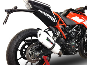 KTM Duke 125 2017-2018 GPR Exhaust Slip-On Silencer Albus White Road Legal