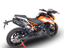 Load image into Gallery viewer, KTM Duke 125 2017-2018 High Mount GPR Exhaust Slip-On Silencer Furore Nero New