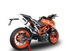 Load image into Gallery viewer, GPR Exhaust High Mount Slip-On Silencer Albus White for KTM Duke 390 2017-2018