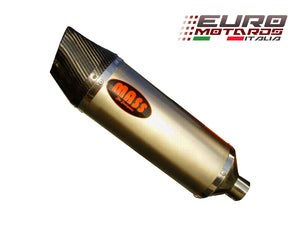 Moto Guzzi Griso 850 2006-14 MassMoto Exhaust Slip-On Silencer Oval Titanium