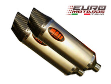 Load image into Gallery viewer, Triumph Speed Triple 1050 05-10 MassMoto Exhaust Dual Silencers Oval Titanium