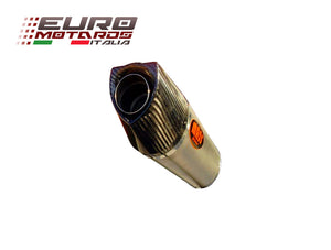Suzuki V Strom 650 2005-2011 MassMoto Exhaust Slip-On Silencer Oval Titanium