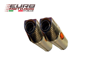 Triumph Speed Triple 1050 05-10 MassMoto Exhaust Dual Silencers Oval Titanium
