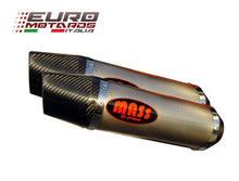 Load image into Gallery viewer, Yamaha YZF R1 2009-2014 MassMoto Exhaust Slip-On Dual Silencers Oval Titanium