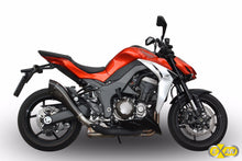 Load image into Gallery viewer, Kawasaki Z1000 2014-16 EXAN X-Black Evo Exhaust Slipon Dual Silencers Carbon Cap