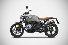 Load image into Gallery viewer, BMW R-nine T Scrambler 2017-2019 Zard Exhaust Black Hardy Racing SlipOn Silencer