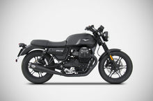 Load image into Gallery viewer, Moto Guzzi V7 III 2017-2019 Zard Exhaust Zuma Dual Black Racing SlipOn Silencers