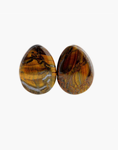 Tiger Eye Teardops - Body Mod Organics