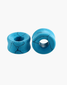 Turquoise Howlite Tunnels - Body Mod Organics