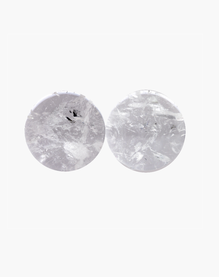 Clear Quartz Plugs - Body Mod Organics