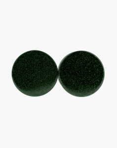 Green Goldstone Plugs - Body Mod Organics