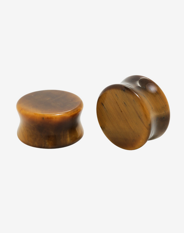 Tiger Eye Plugs - Body Mod Organics