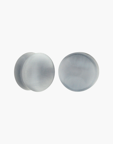 Gray Cat Eye Concave Plugs