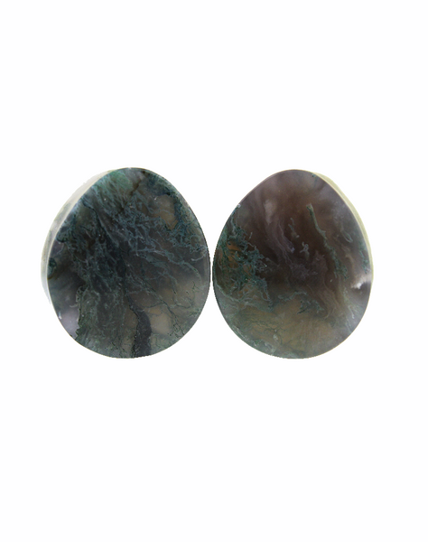 Solid Steel and Electroplated Purple Agate Weights - Body Mod Organics
