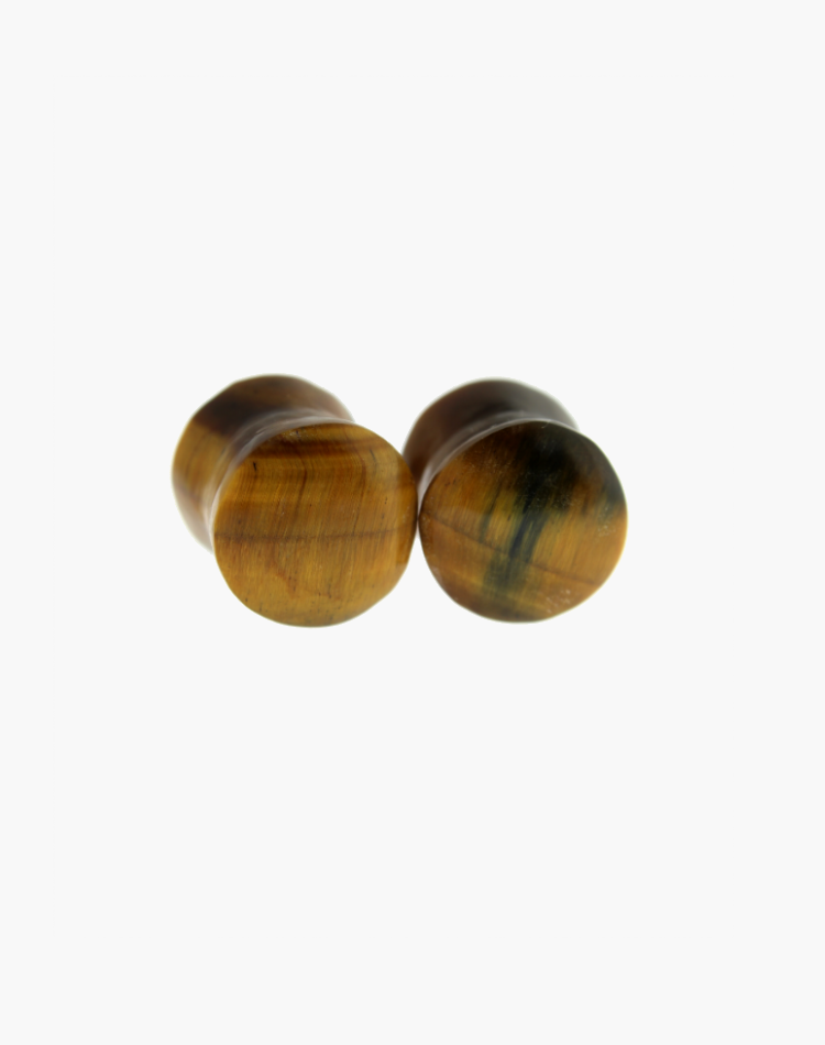"Tiger Eye Plugs 19/32"" - Body Mod Organics"