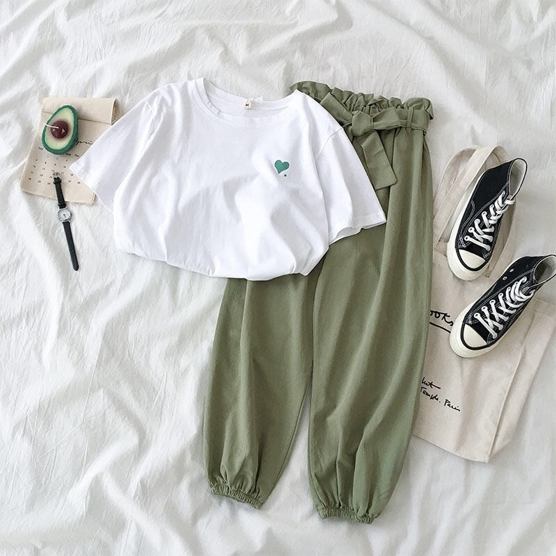 Two piece set tracksuit summer clothes - Realm Fashion