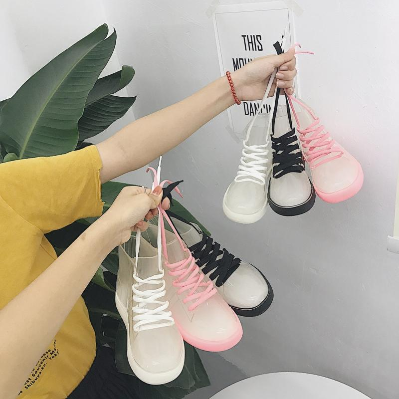 SWYIVY Women Rainboot 2019 New Fashion PVC Rain Boots - Realm Fashion