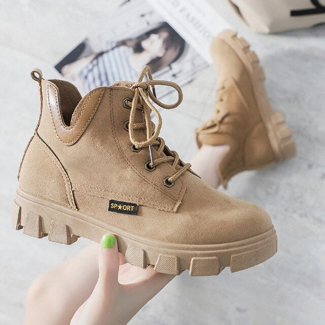 YRRFUOT Women Sneakers Outdoor Lace-up Trend  Fashion Sneaker - Realm Fashion