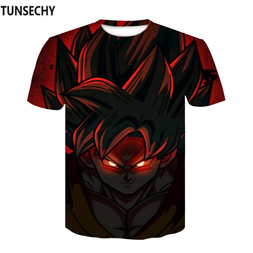 TUNSECHY Dragon Ball Z T Shirts Mens Summer Fashion 3D Print - Realm Fashion