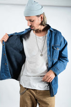 Load image into Gallery viewer, Vintage Denim Fleece Lined Shirt in Blue