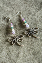 Load image into Gallery viewer, Bespoke handmade dragonfly earrings