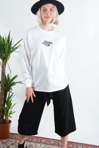 FRC long sleeve t-shirt in white with peace logo
