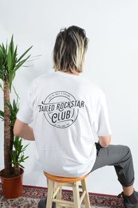 Failed Rockstar Club t-shirt in white with soda back print
