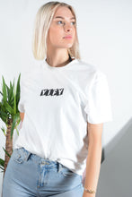 Load image into Gallery viewer, YIFY T-shirt in white with Parallel logo