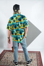 Load image into Gallery viewer, Vintage Hawaiian shirt in turquoise