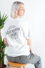 Load image into Gallery viewer, Failed Rockstar Club t-shirt in white with soda back print