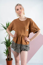 Load image into Gallery viewer, Reworked Carhartt t-shirt dress in brown
