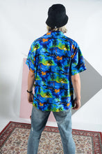 Load image into Gallery viewer, Vintage Hawaiian shirt in blue