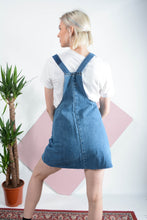 Load image into Gallery viewer, Reworked Carhartt denim pinafore dress