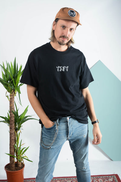 YIFY T-shirt in black with 3D design