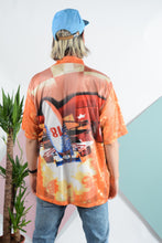 Load image into Gallery viewer, Vintage unisex orange mesh racing shirt