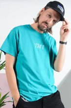 Load image into Gallery viewer, YIFY T-shirt in turquoise with 3D design