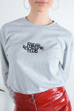 Load image into Gallery viewer, FRC long sleeve t-shirt in grey with peace logo