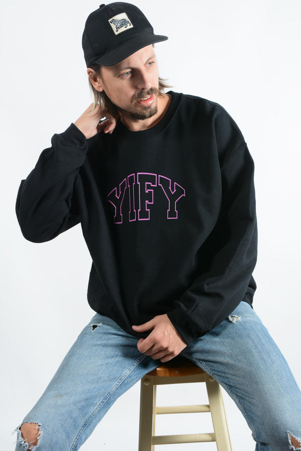 Spell Out Sweatshirt in Black with Outline Logo (available in 2 colours)