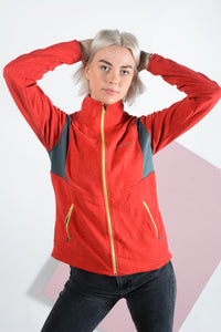 Vintage Columbia Fleece Jacket in Red - L