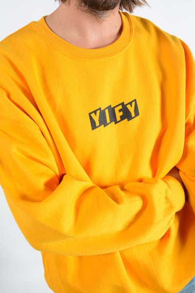 YIFY Sweatshirt in Gold with Parallel Logo