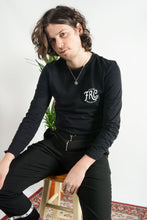 Load image into Gallery viewer, FRC long sleeve soda t-shirt in black