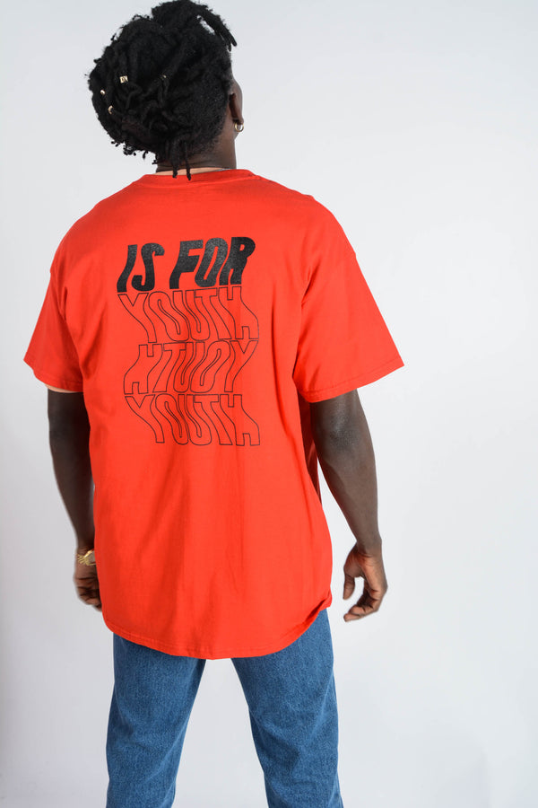 YIFY T-shirt in red with wavey logo