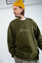 Load image into Gallery viewer, Vintage Eddie Bauer Sweatshirt in Green with Spell Out Logo - XXL
