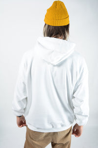 YIFY Hoodie in White with Dead Man's Hand Logo