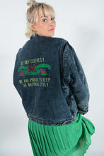 Load image into Gallery viewer, Vintage Lined Denim Jacket